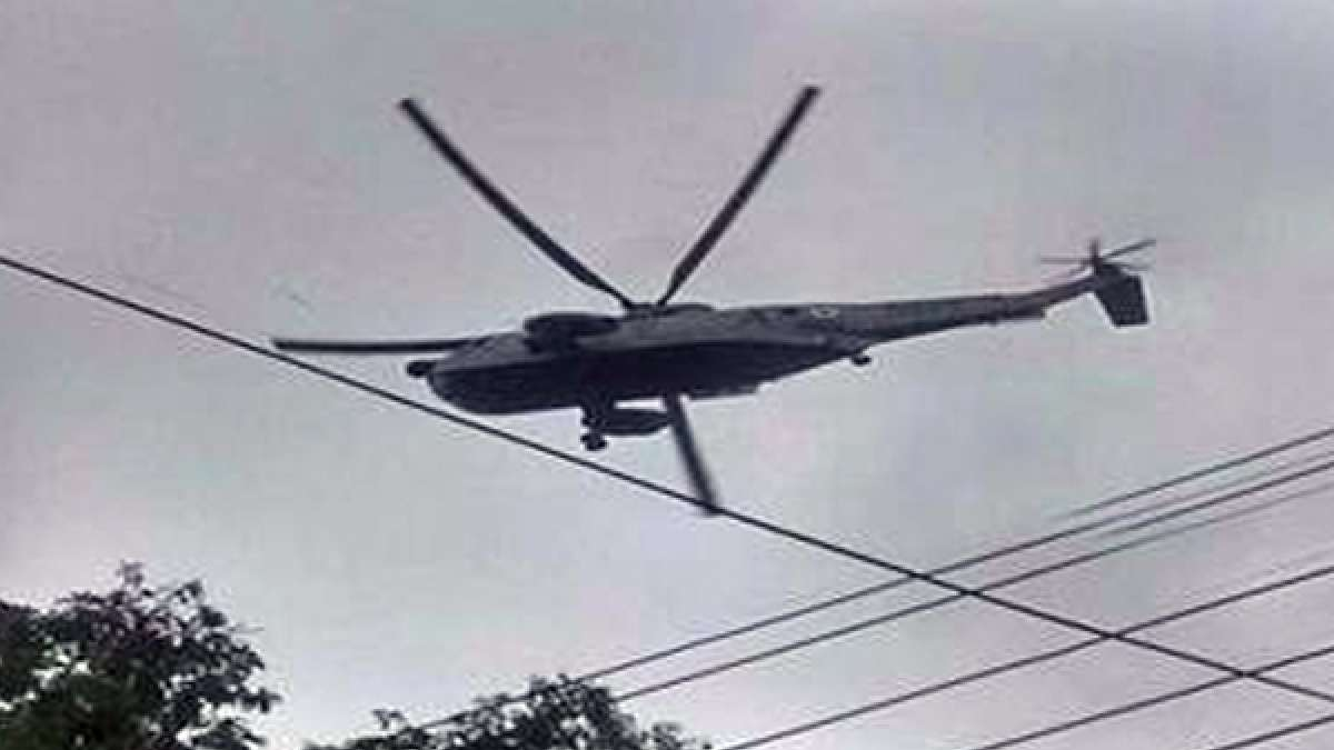Cheetah helicopter crashes inside the Sukna military base