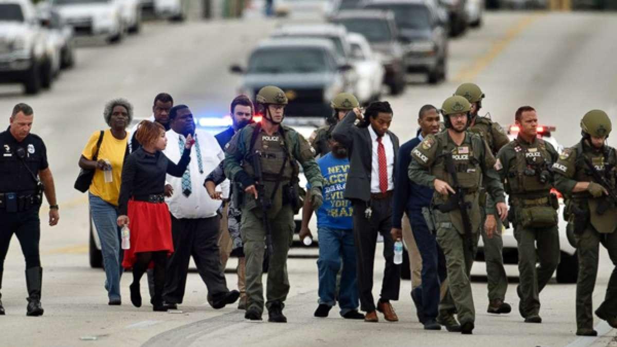 Florida bank robbery scene