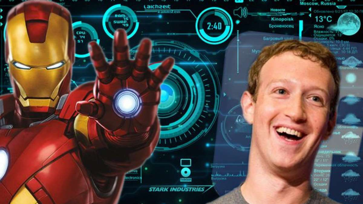 Mark Zuckerberg and Jarvis from Iron Man