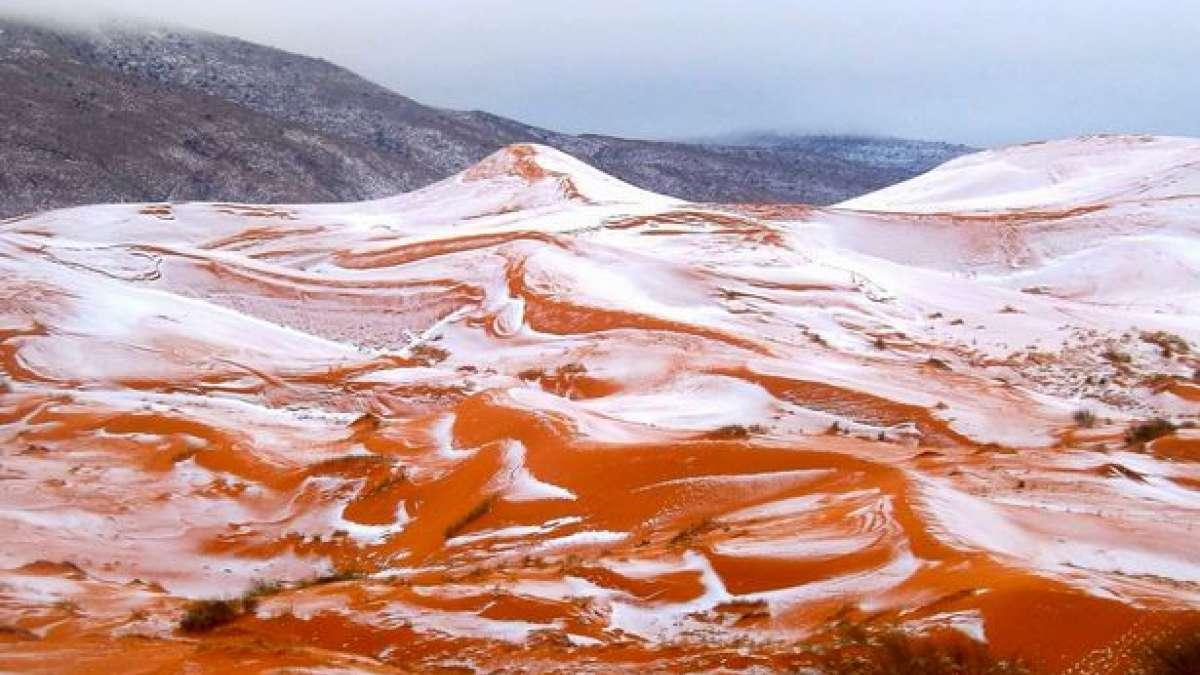 Sahara snow pictures