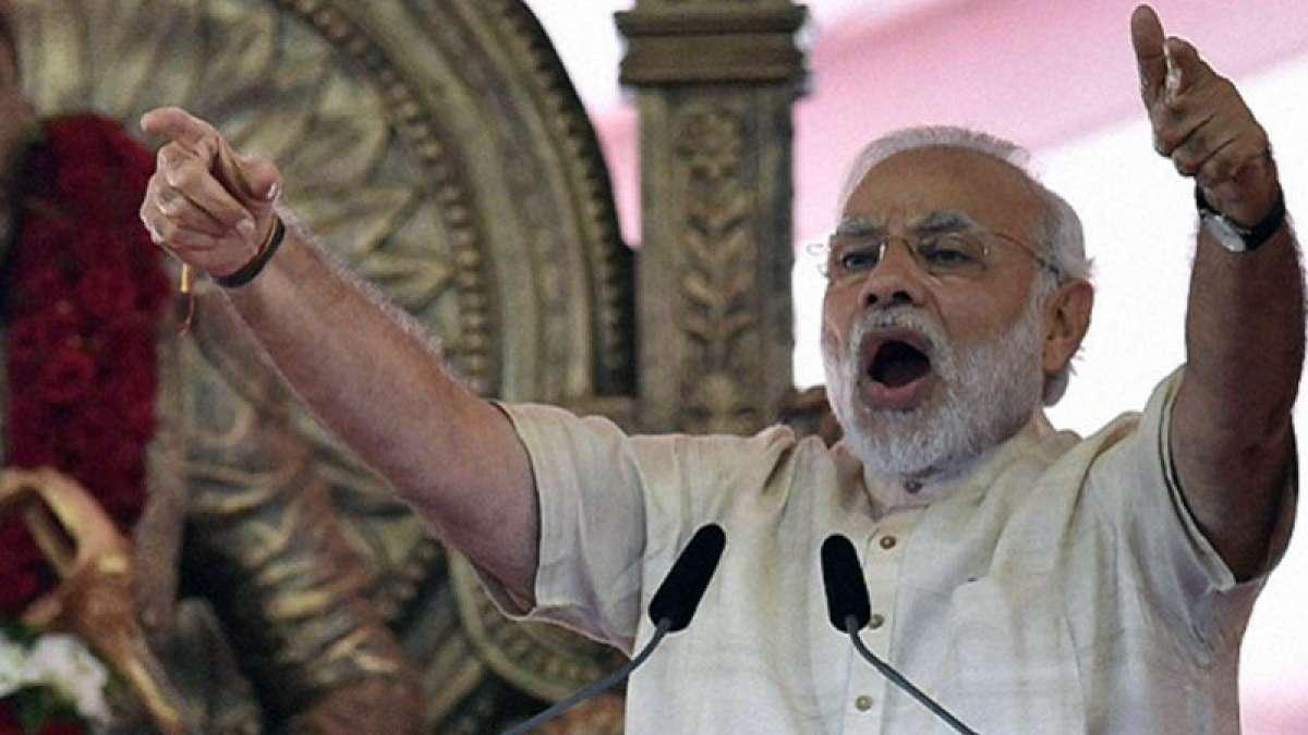 Prime Minister Narendra Modi in Mumbai