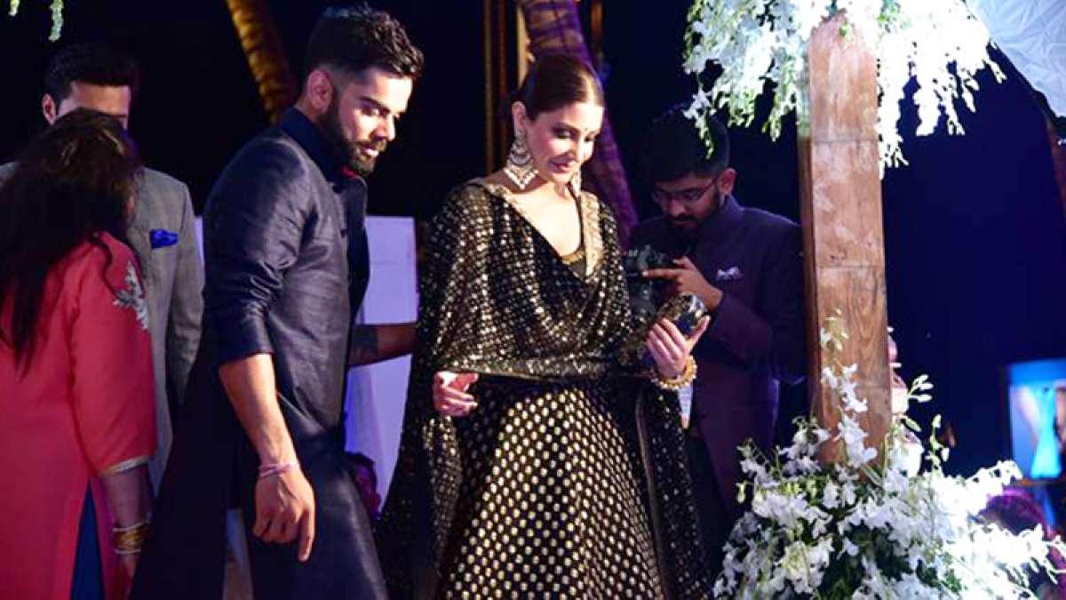 Anushka Sharma and Virat Kohli at a function together