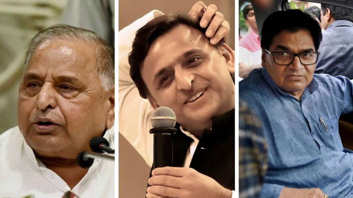 Mulayam Singh, Akhilesh Yadav and Ram Gopal Yadav from Samajwadi Party