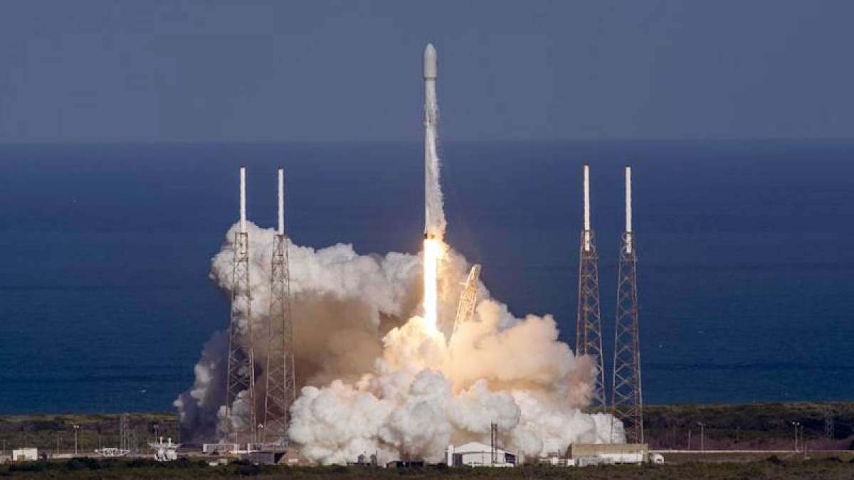 Falcon 9 rocket launch at SpaceX