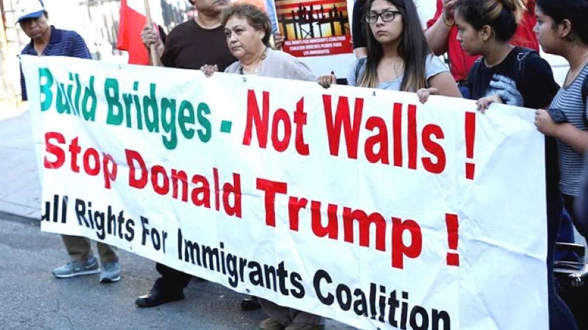 Protest against Donald Trump immigration policies