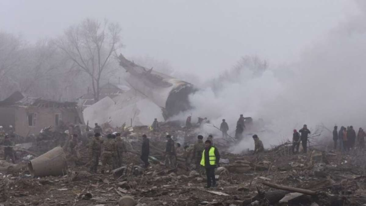 Turkish Airlines cargo plane crashes into homes