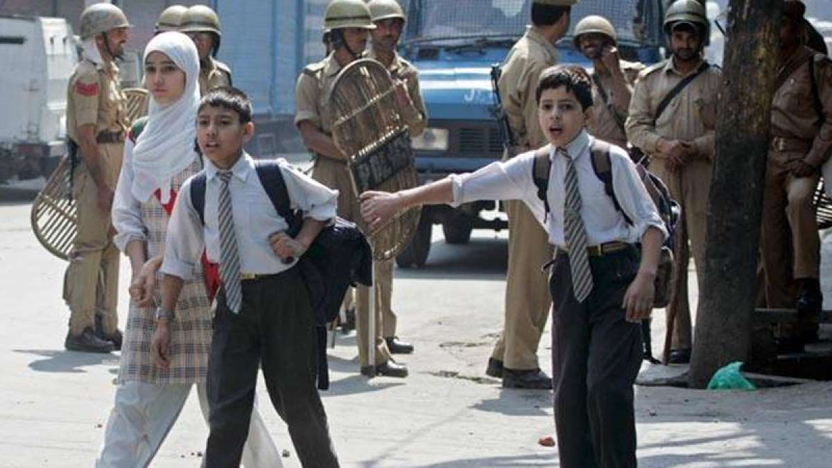 Schools in Kashmir re-open after eight months