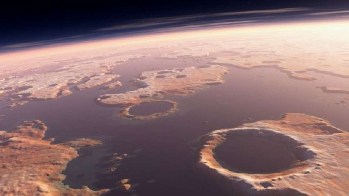 Scientists have discovered a crater linked to tsunamis that swept part of ancient Mars. They have found an asteroid at 150-m-high waves when it dived into the ocean, which might have existed on northern Mars three billion years ago.