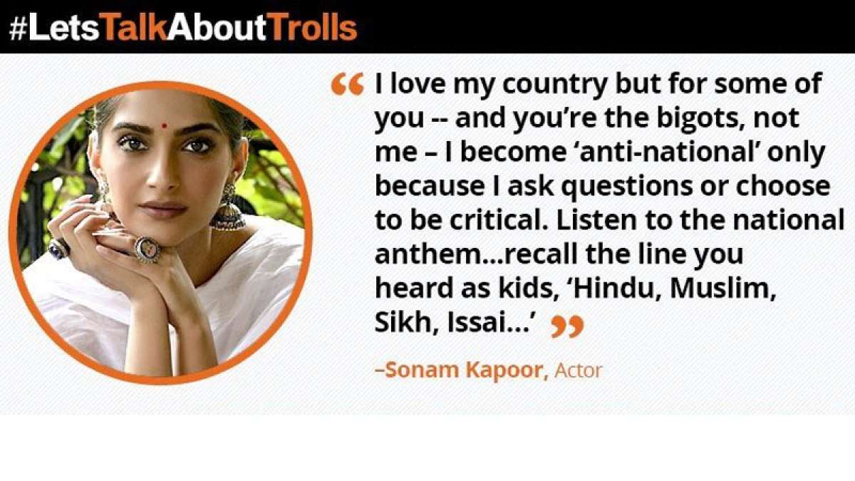 Actress Sonam Kapoor gets trolled over national anthem