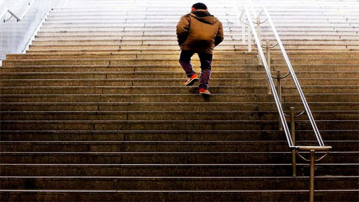 Researchers have found that 10 minutes of walking up and down stairs at a regular pace is more likely to make you feel energised.