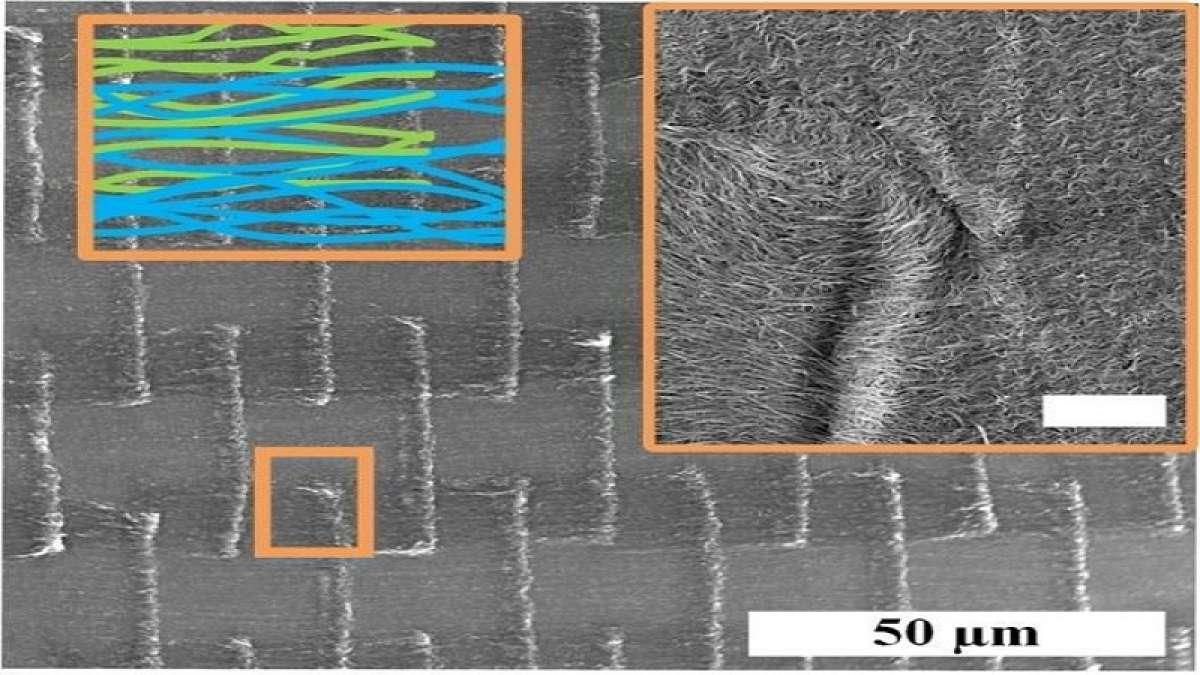 Researchers have developed thin carbon nanotube (CNT) textiles that exhibit high electrical conductivity.
