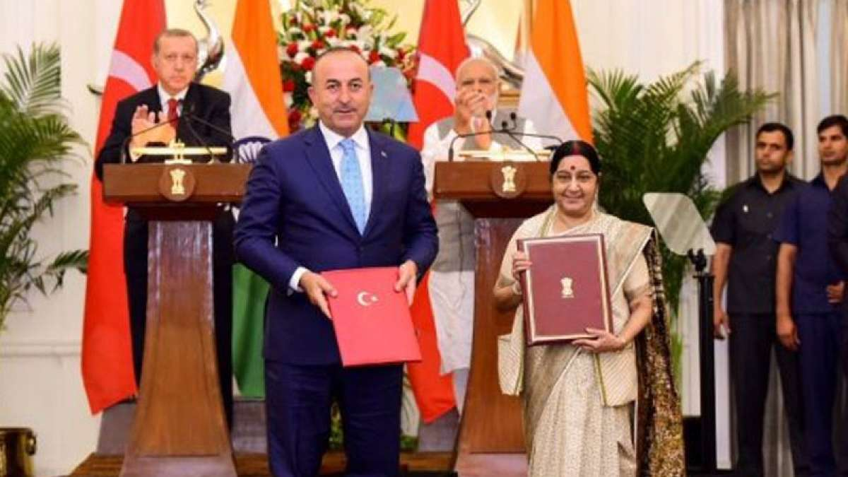 India and Turkey sign three agreement on Monday (May 1)