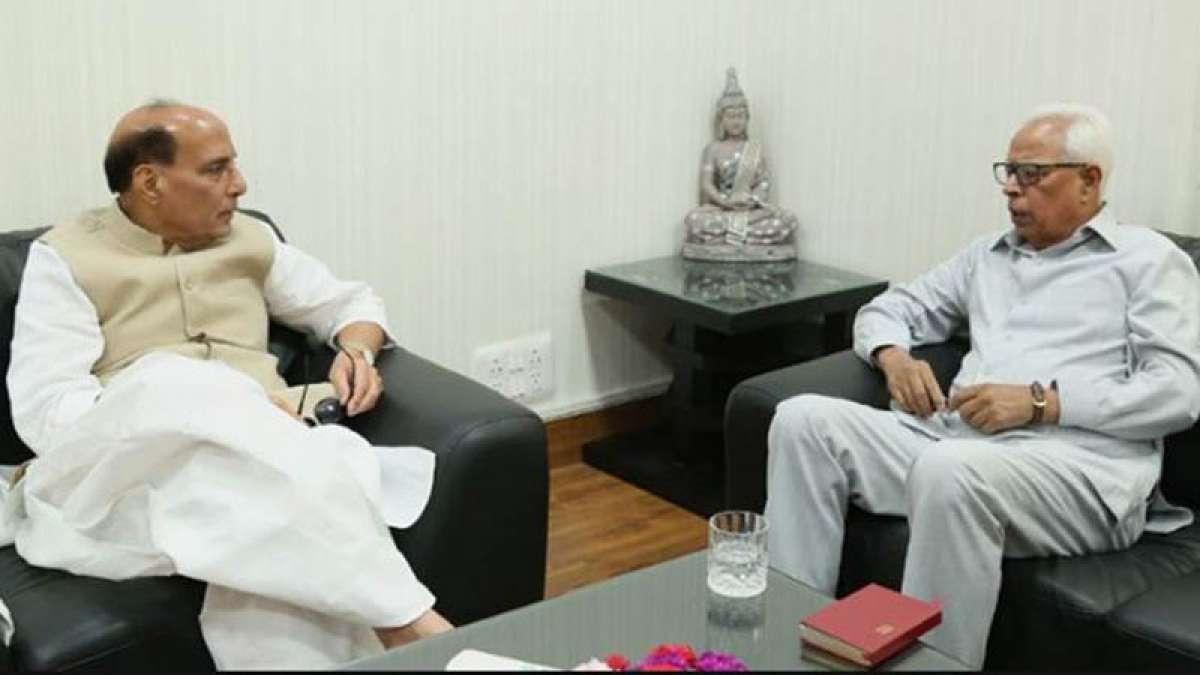 Rajnath Singh meets with NN Vohra