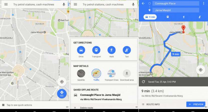 Google Maps For Android Gets New Home Screen Specifically Designed