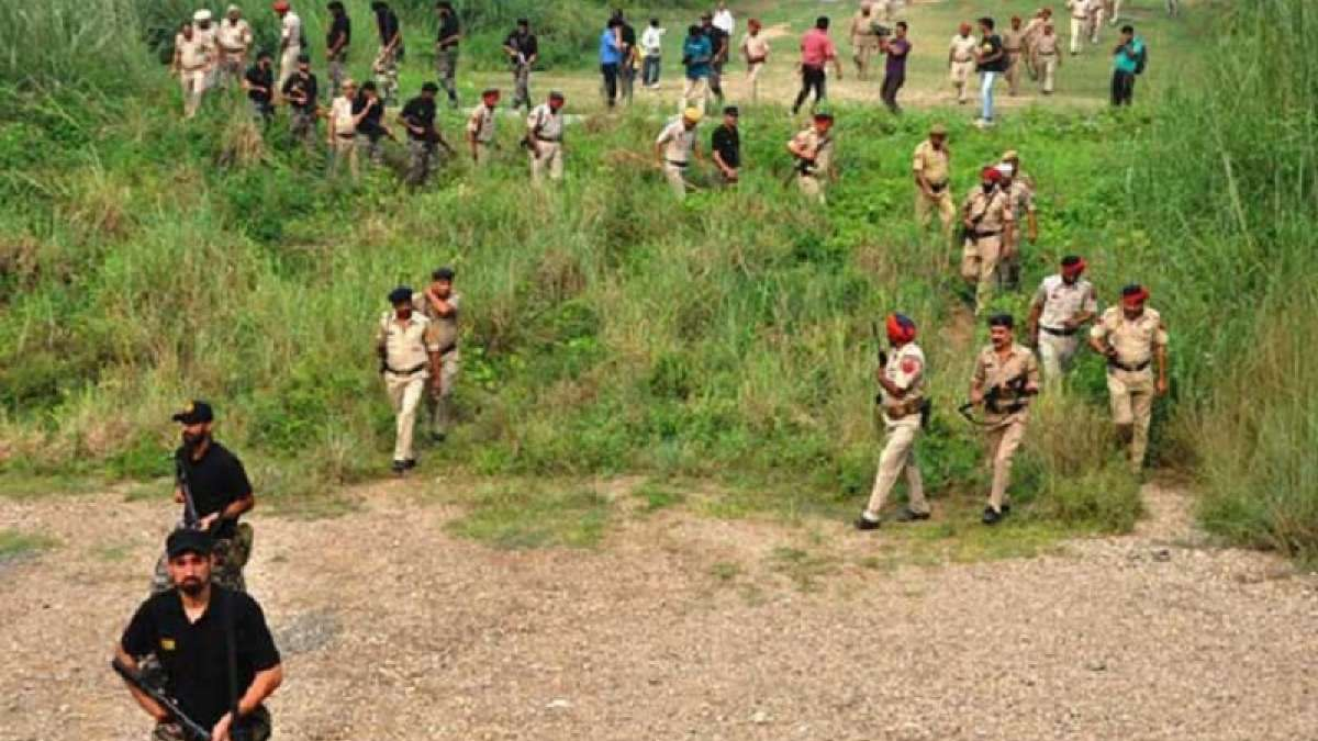 Punjab Police and other security agencies launched a search operation in areas of Pathankot and Gurdaspur