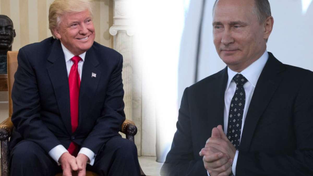 Donald Trump and Vladimir Putin discuss Syrian crisis, Korean Peninsula over phone call
