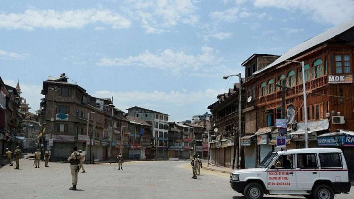 Curfew and restrictions continued in Srinagar and other places in the Kashmir Valley
