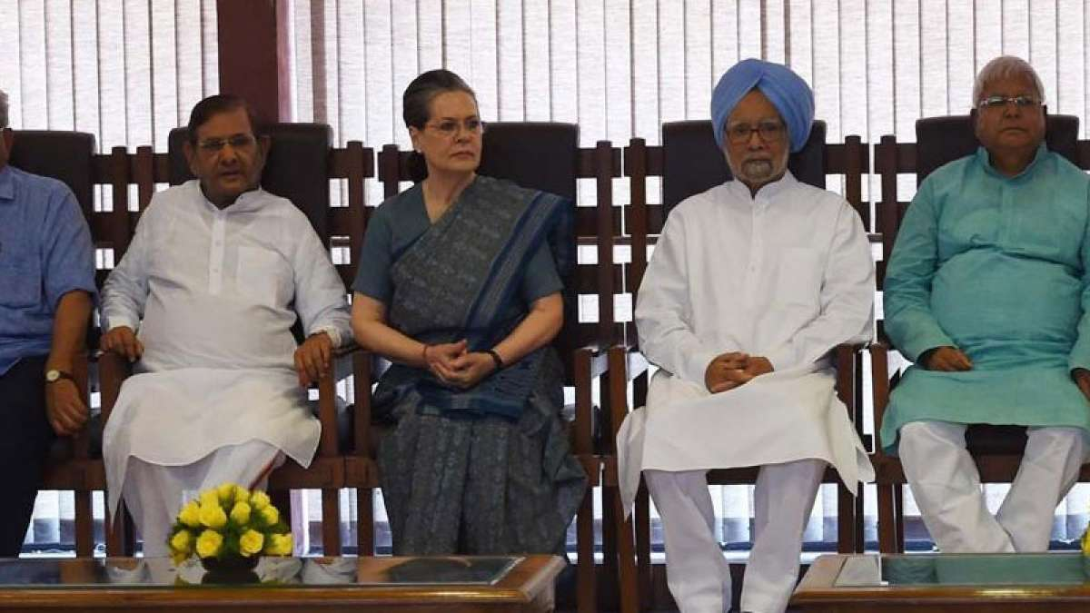 Sonia Gandhi and other major political leaders