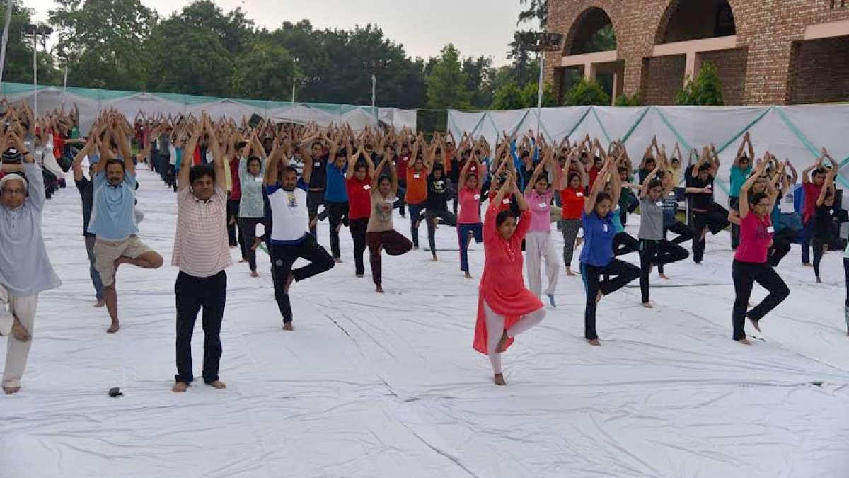 MDI Gurugram students perform Surya Namaskar on International Yoga Day