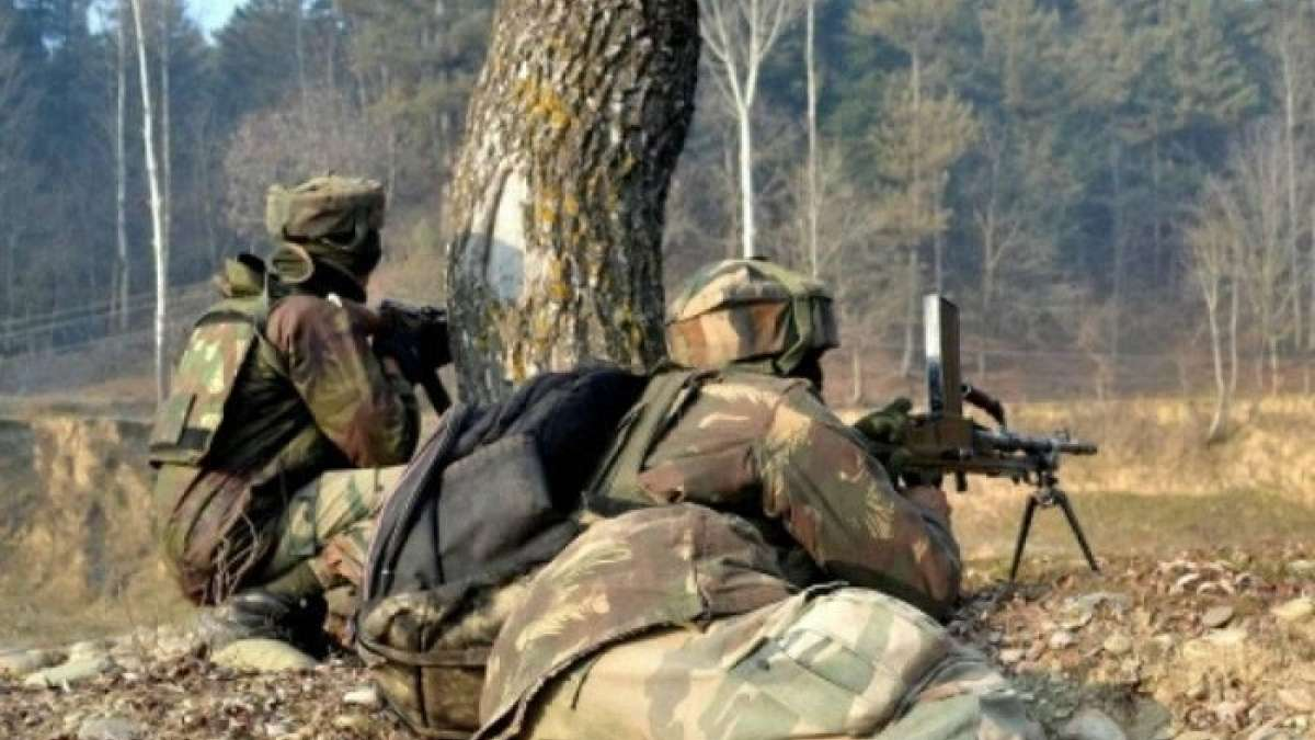 Three militants were killed and an Army Major was injured