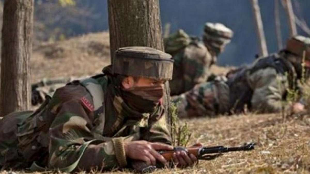 Standoff continued following a cross-firing between security forces and holed-up militants in J&K