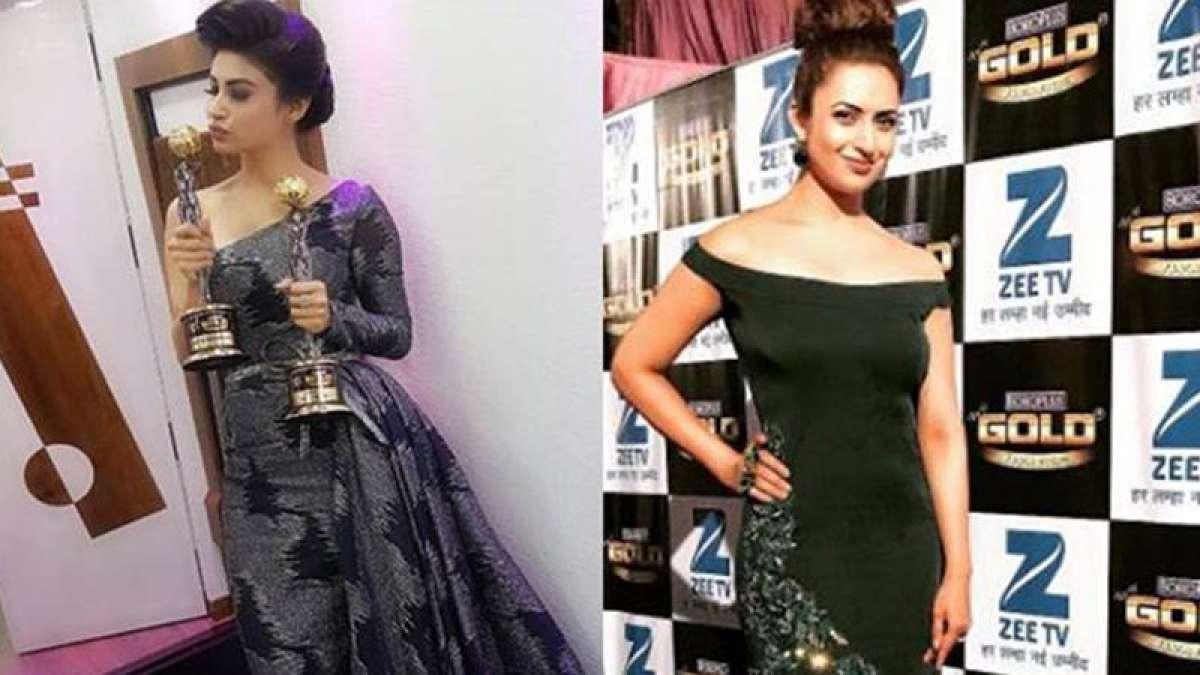 Zee Gold Awards 2017: Mouni Roy and Divyanka during the event
