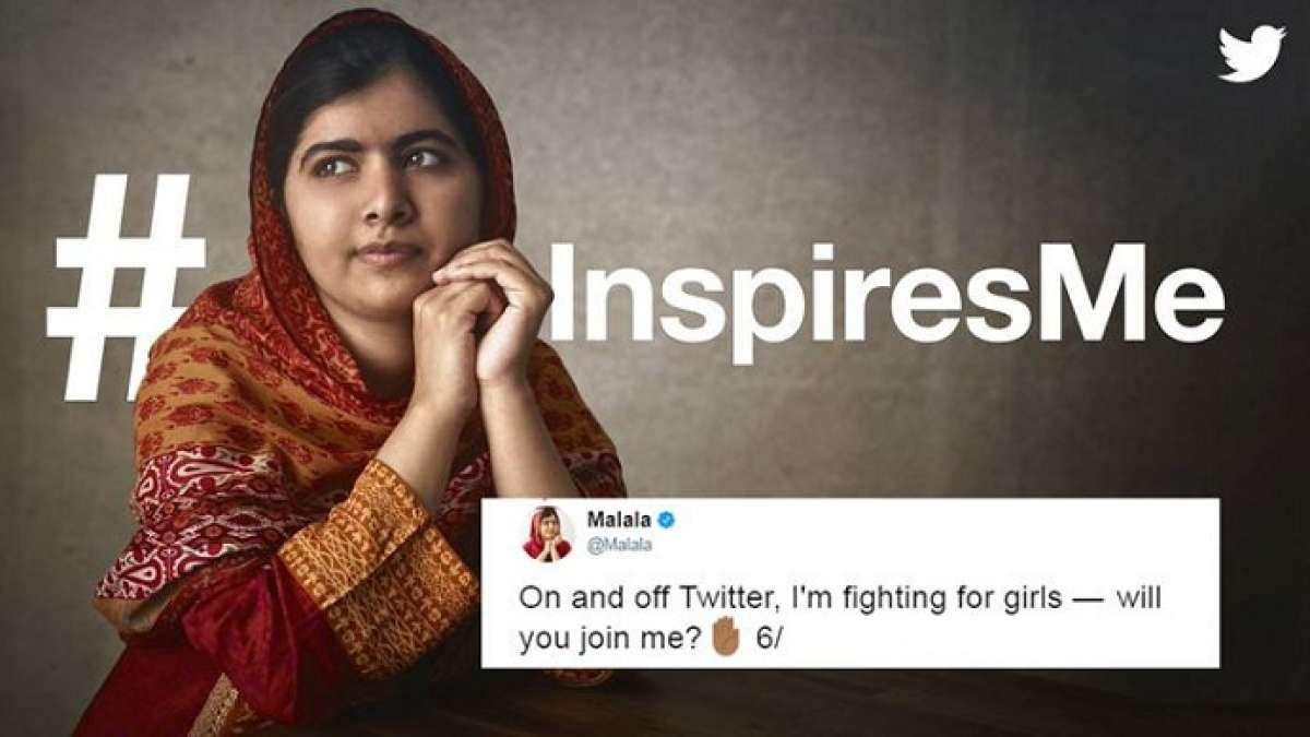Malala Yousafzai has joined Twitter with a call for people to help