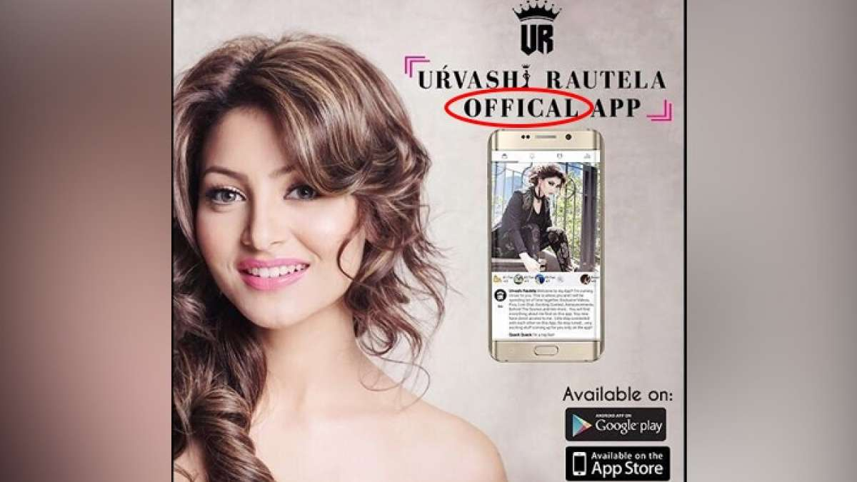 Urvashi Rautela launched her own app named after her