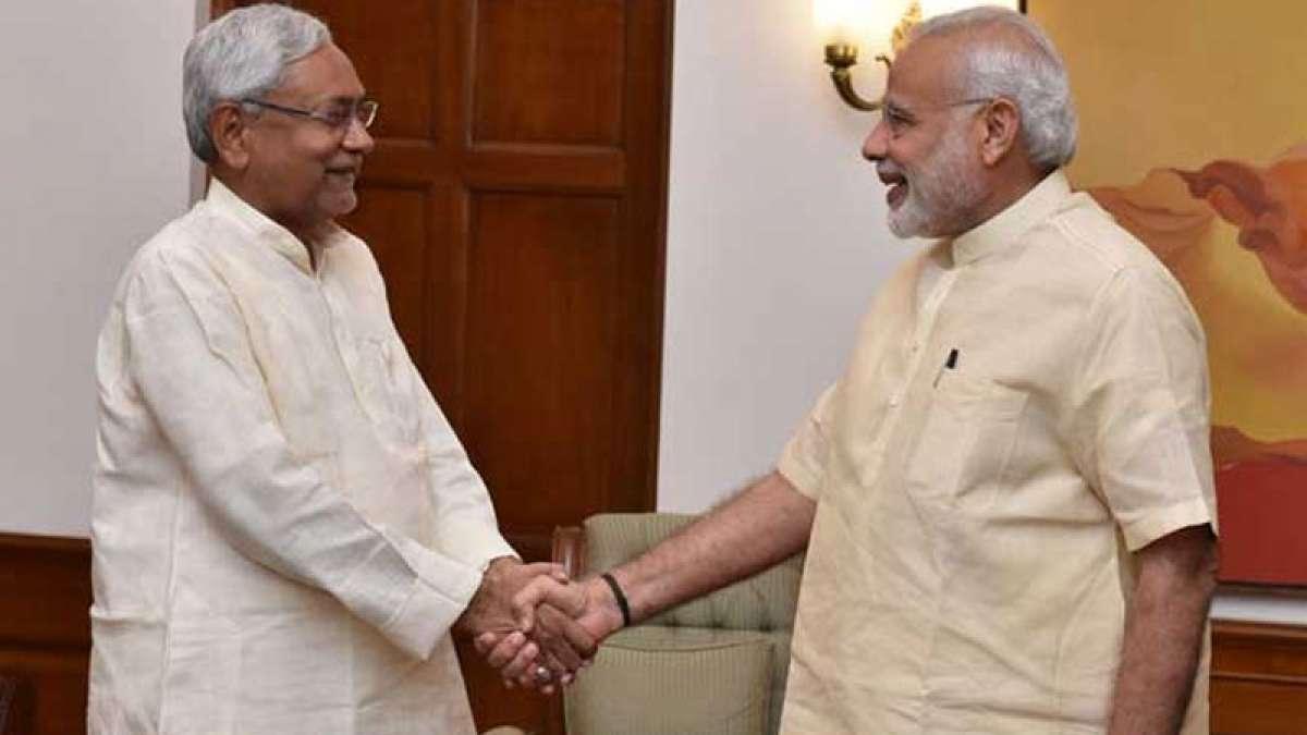 Prime Minister Narendra Modi with Nitish Kumar