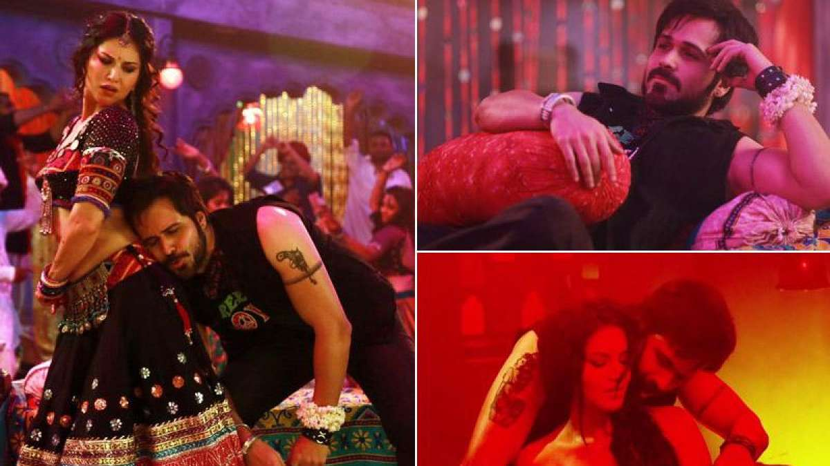Sunny Leone and Emraan Hashmi in Piya More song from Baadshaho