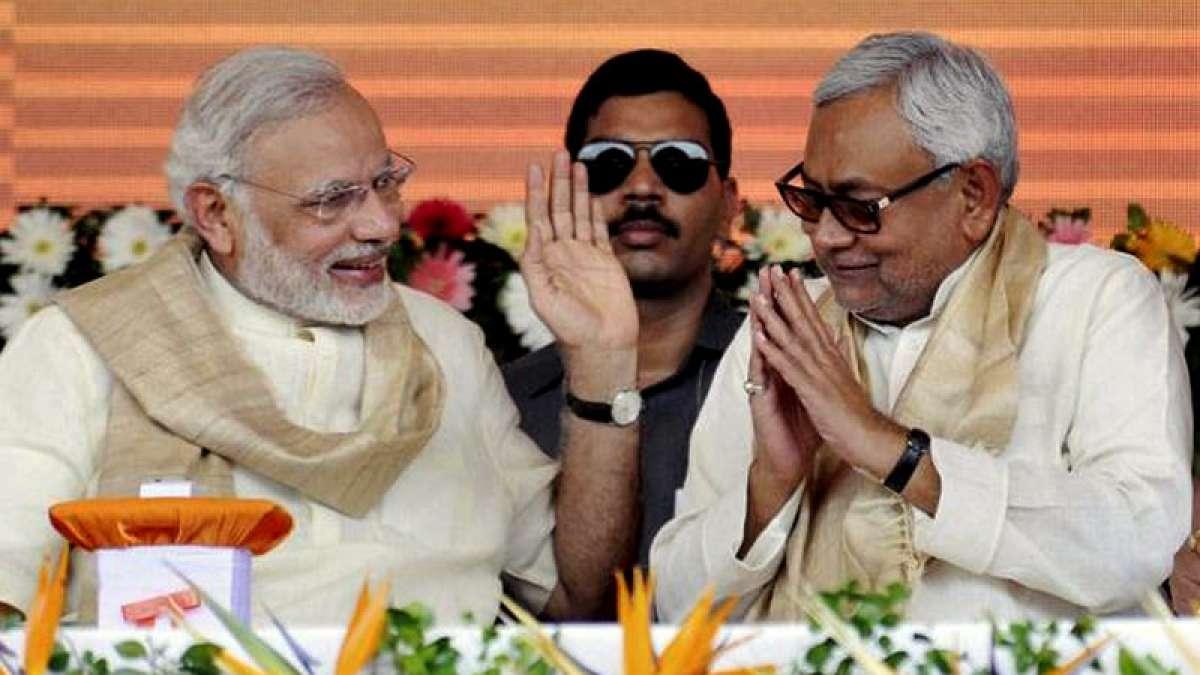 Nitish Kumar with Prime Minister Narendra Modi