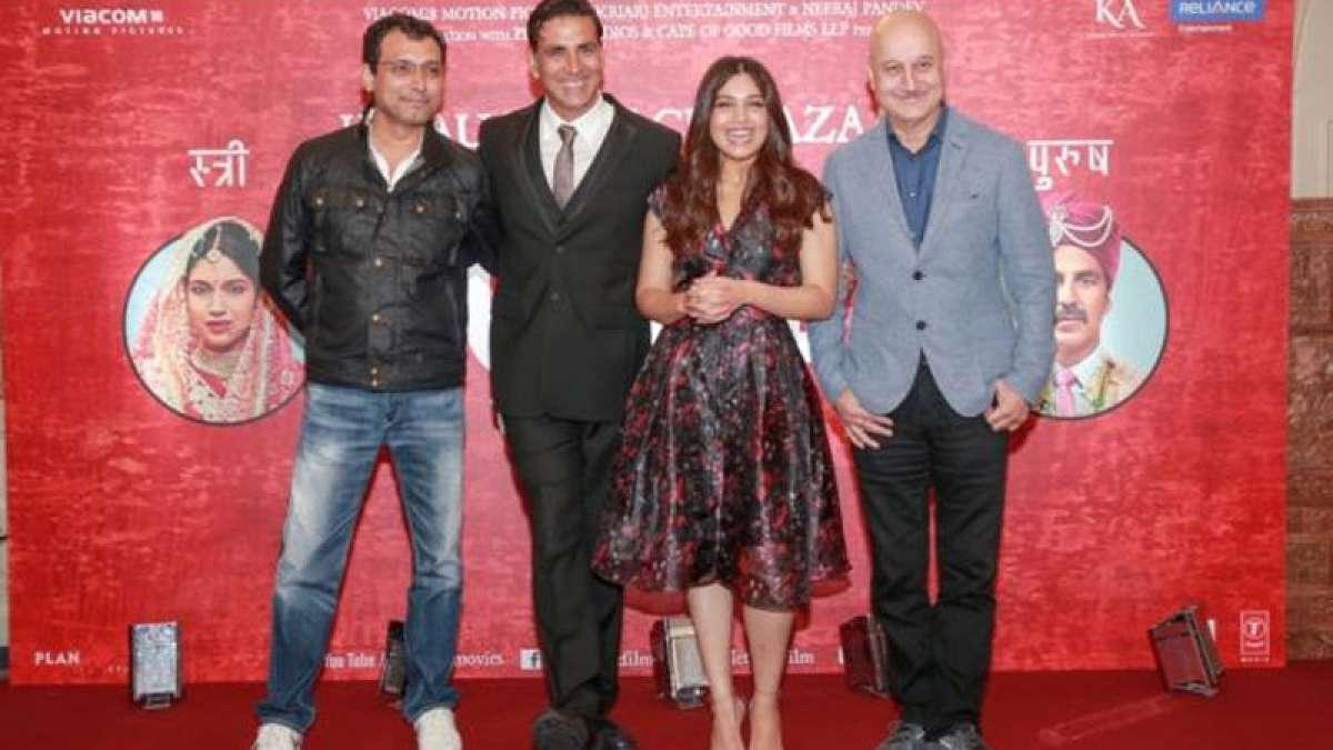 Anupam Kher with the star cast of Toilet Ek Prem Katha