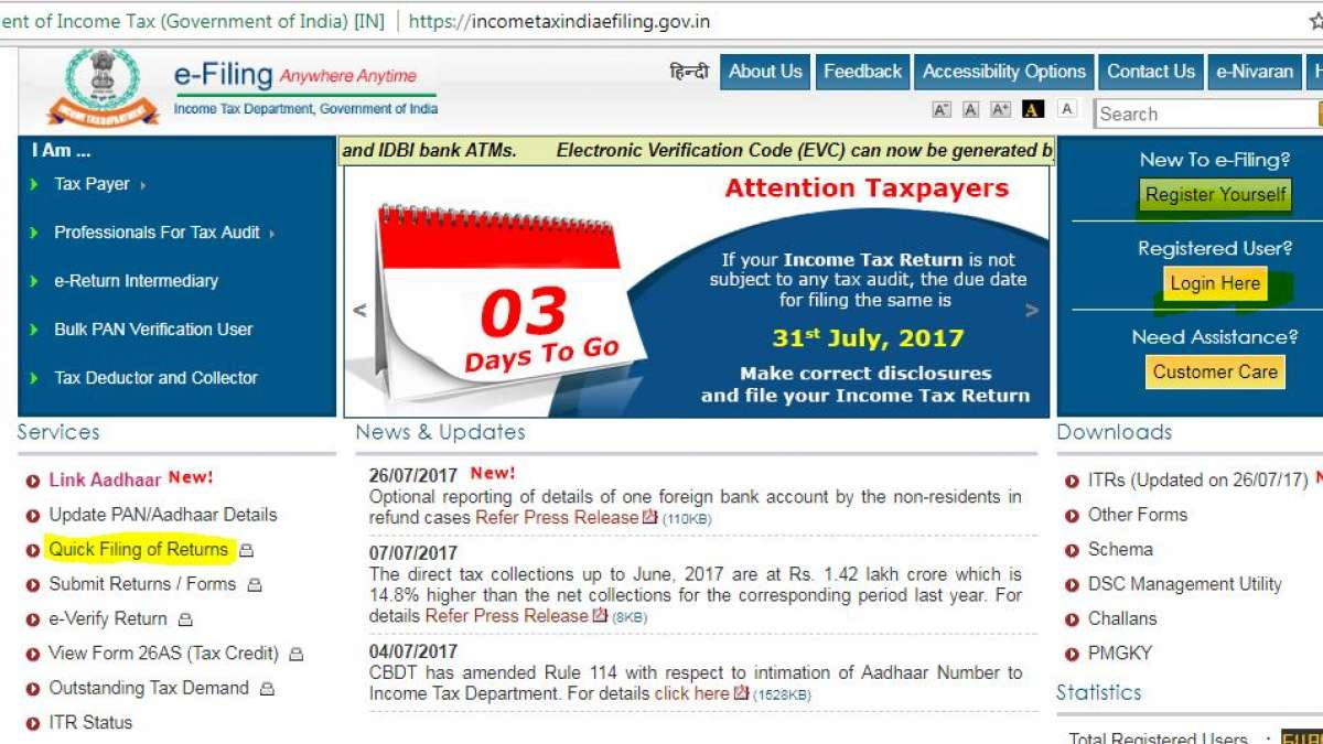 Last Date to file Income Tax Returns not to be extended