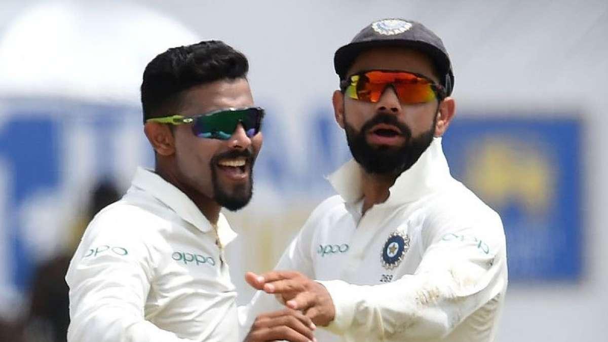 Indian skipper Virat Kohli with Ravindra Jadeja