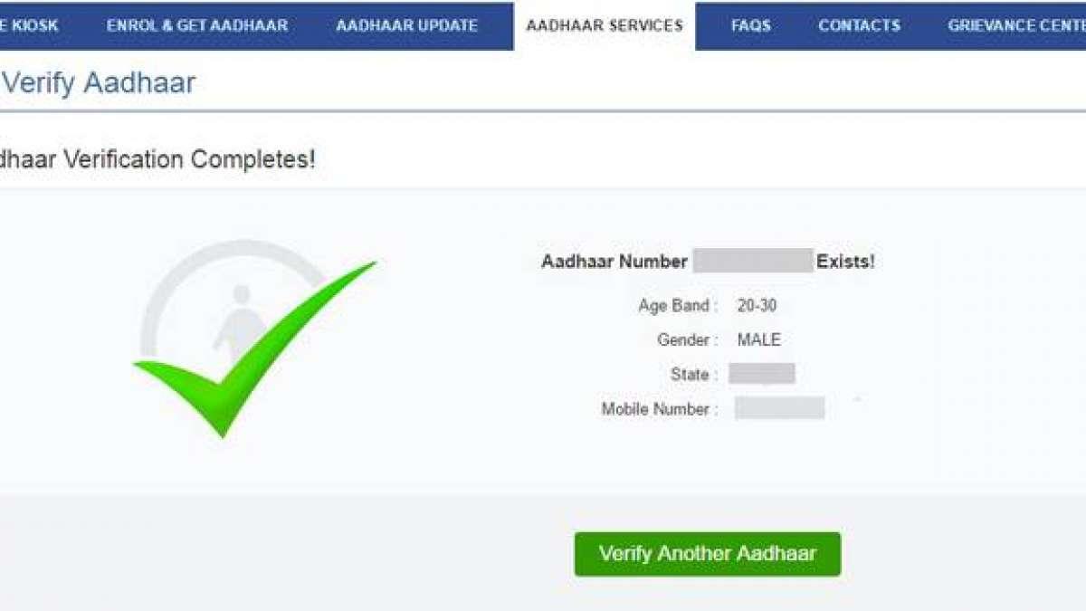 Aadhaar card in India