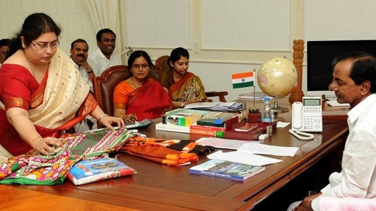 Telangana Chief Minister announced the state will distribute free sarees to one crore women