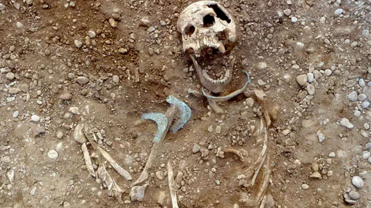 A skull way back from the Bronze Age