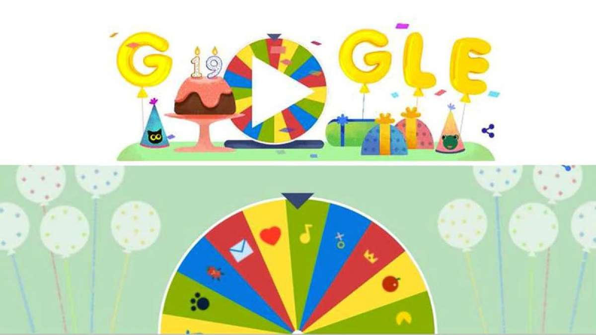 Google celebrates 19th birthday with 19 game 'surprise' spinner doodle