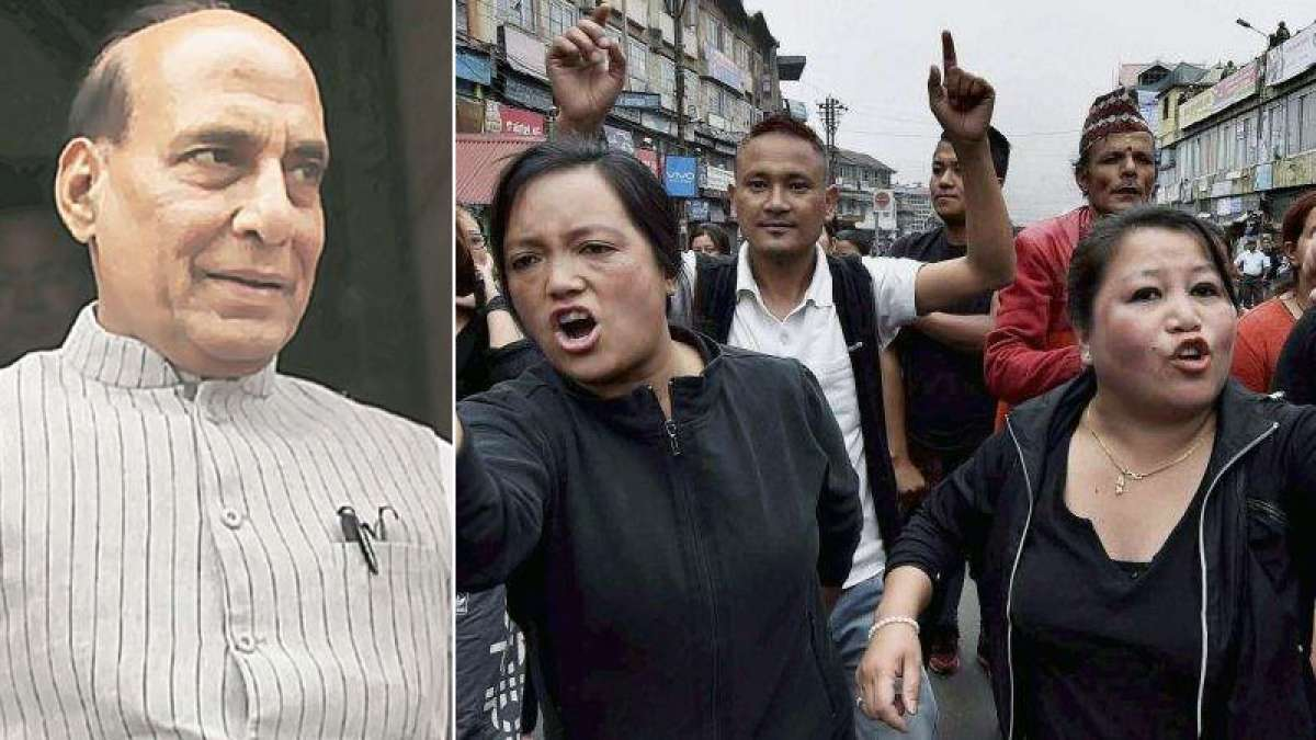 Rajnath Singh intervenes to bring normalcy in Darjeeling