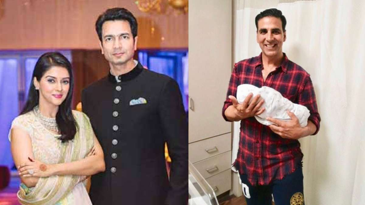 ADORABLE! Akshay shares picture with Asin's newborn