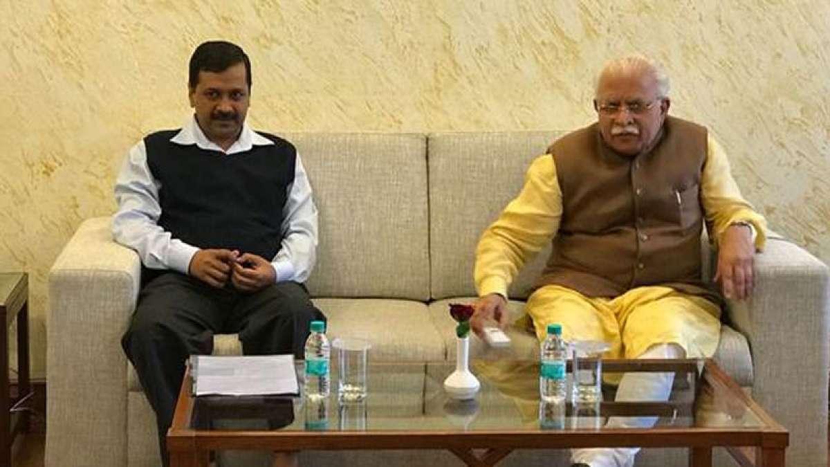 Arvind Kejriwal meets Khattar, discusses air pollution