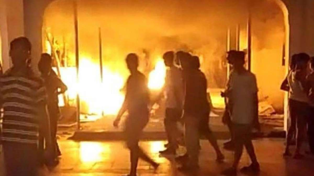 Sathyabama University students set hostel beds on fire after first year girl commits suicide