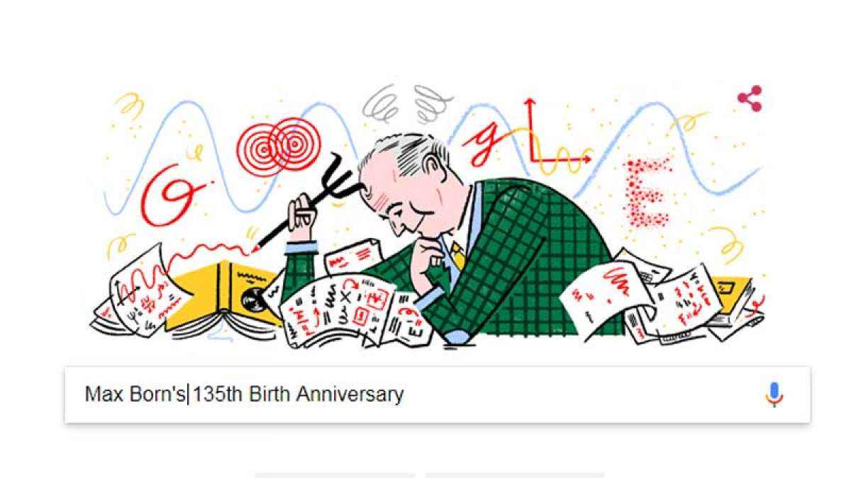 Max Born Google Google Doodle celebrates Max Born's 135th birthday: All you need to knowDoodle: All you need to know about the German physicist