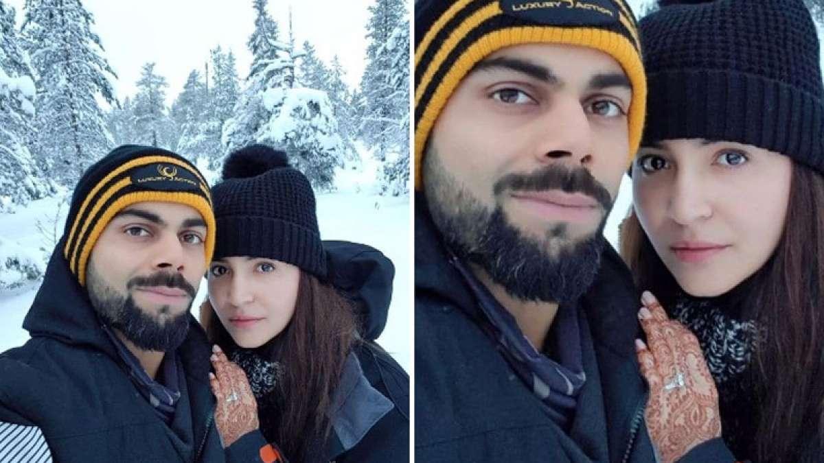 Anushka Sharma and Virat Kohli's pic from their honeymoon trip in snowcapped mountains