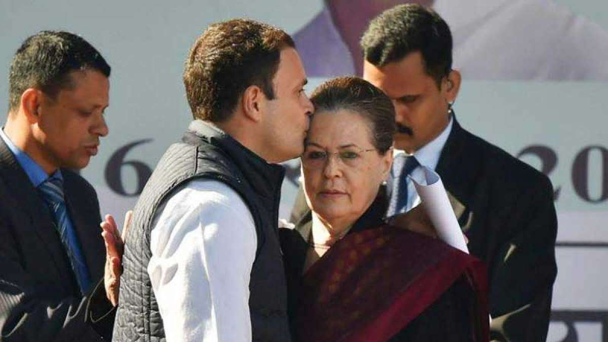 Rahul Gandhi gives mother Sonia Gandhi a kiss on forehead at farewell