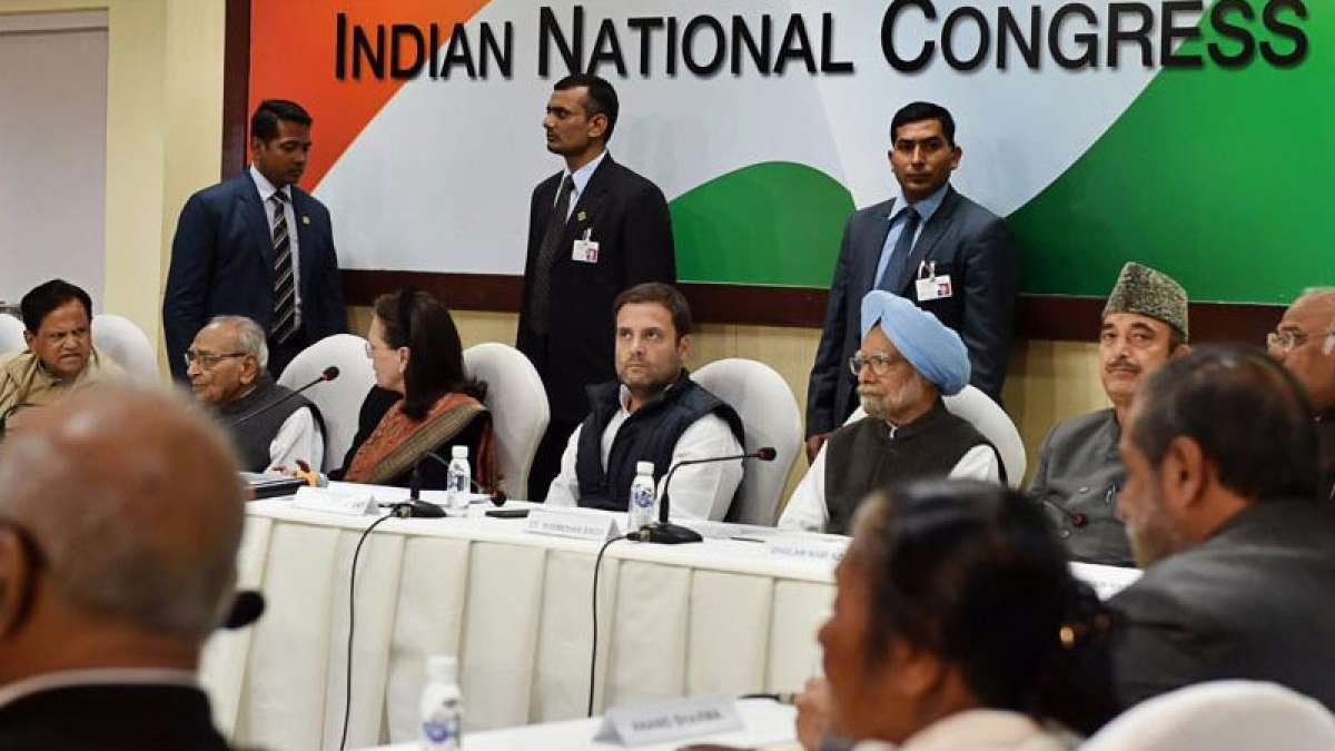 Rahul chairs first CWC meet, says BJP foundation 'based on lies'