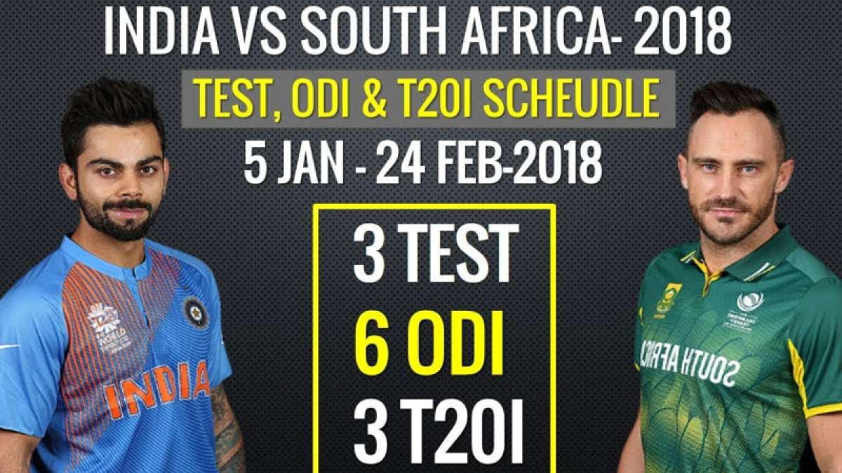 India vs South Africa Tour: Complete schedule and fixtures