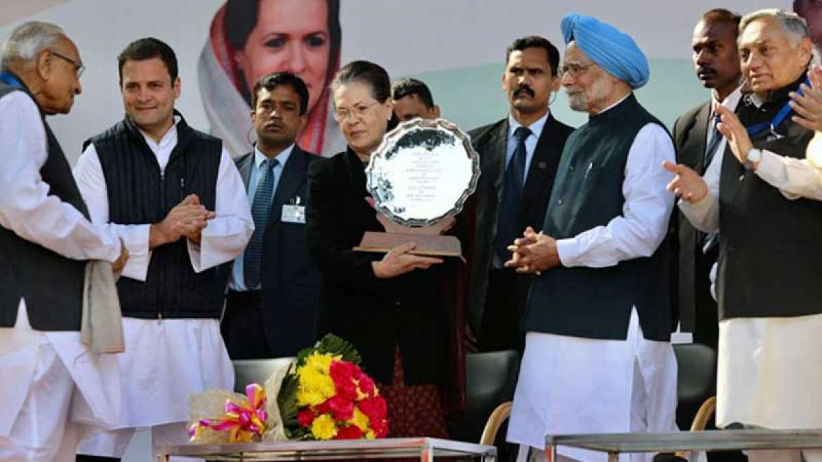 Congress turns 133: Sonia Gandhi during party's foundation day celebration