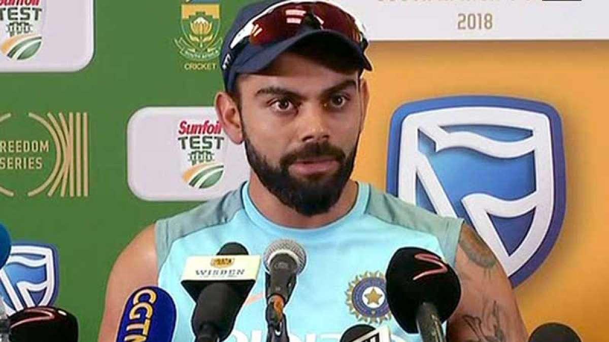 Indian skipper Virat Kohli during media interaction