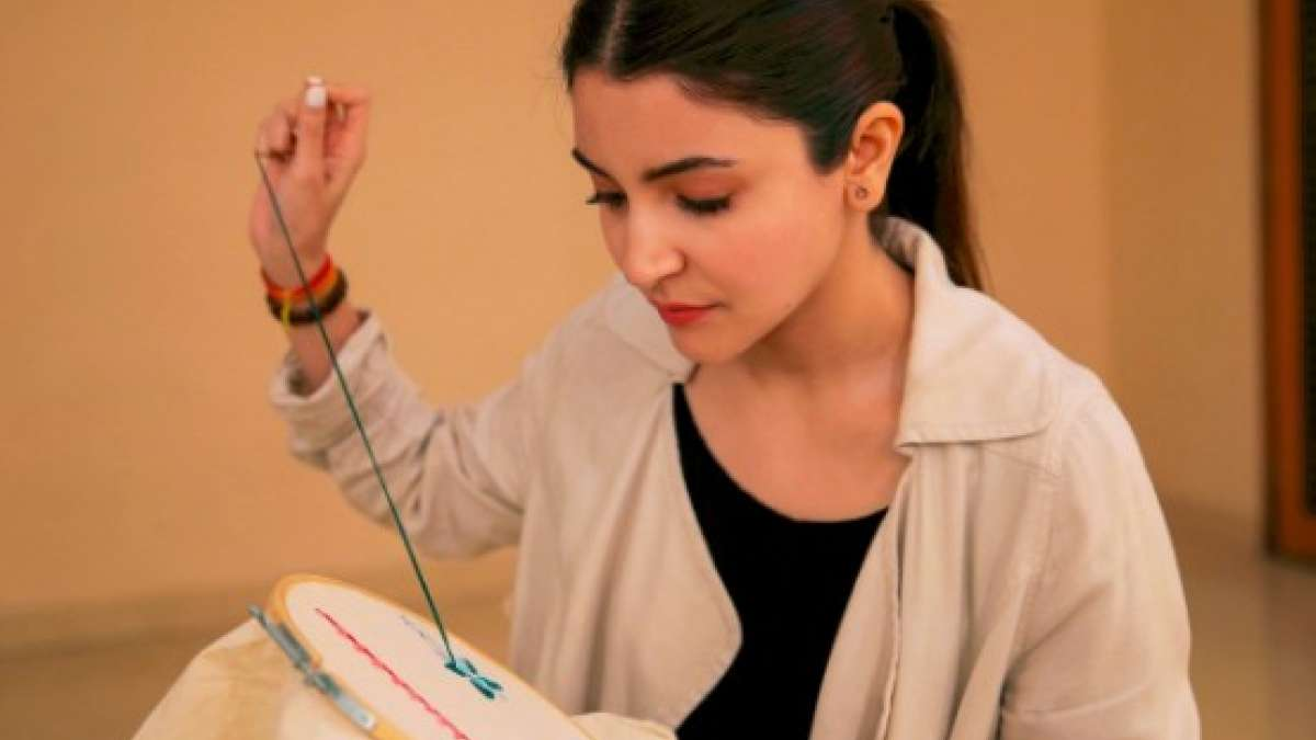 Anushka Sharma practices sewing skills for her next film Sui Dhaaga